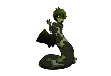 One-Winged Tortured Naga (Atherus) by Wolfclaw15