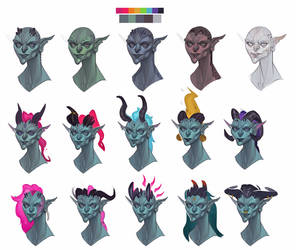 Rakshasa Female Head Variations by nimoda