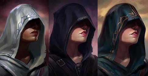 Pillars of Eternity Portraits by nimoda