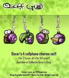 4 cute charms set by th3blackhalo