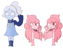 Moonstone And The Morganite Twins by PieRiteYT