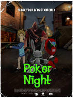 Poker Night Poster L4D Style by PrawnBoy101