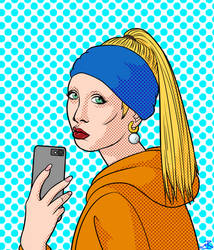 Millenial With a Pearl Earring by MichPajamaArtist