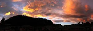 Sunset of Fire - Panorama by GavinAsh