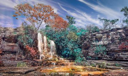 king of dragons waterfall by caiusaugustus