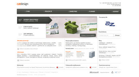 The current design of our site by catdesignpl