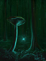 Glowing Spider by dreamlandcody