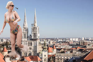 Giantess Croatia President decide to become a god by GangstaLilith2