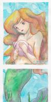 Mermaid Rhea - 2 Set ACEO by XKimmaiX