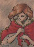The Red Cape - ACEO by XKimmaiX