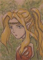 Ilewn: Wood Elf - ACEO by XKimmaiX