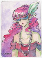 Purple Masquerade - ACEO by XKimmaiX