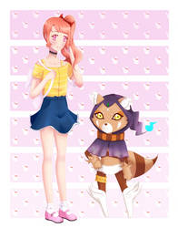 Sawako and Ressamon - Digimon Adventure by HimiiChan