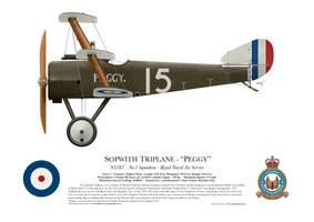 Sopwith Triplane - N5387 'Peggy' - Profile by artbyedo