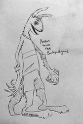 Scraggly kangaroo by Yelriiihs