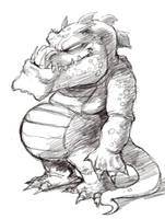 Little Fat Dragon Sketch by dendorrity