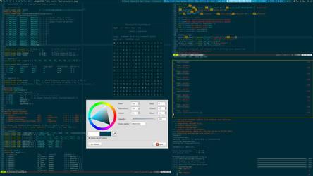 DWM on Archlinux: Solarized + Powerline by w0ng