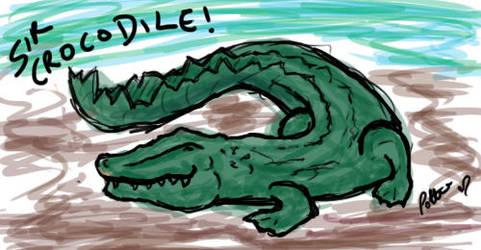 Crocodile. by JellyCustard