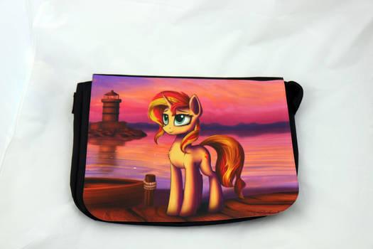 Sunset Shimmer Sunset Messenger Bag by Art-N-Prints