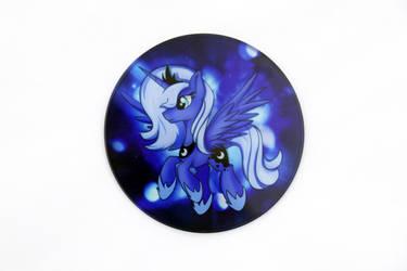 Luna Glass Coaster by Art-N-Prints