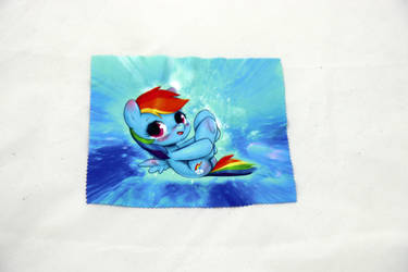 Rainbowdash Glasses Cleaning Cloth by Art-N-Prints