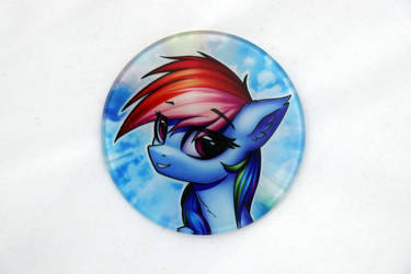 RainbowDash Glass Coaster by Art-N-Prints