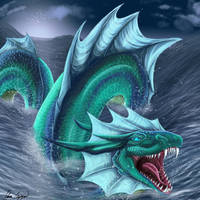 Sea Serpent by Umbra-Daemon