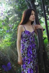 Girl and butterflies by FOX-FIRE44
