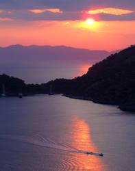 Sunset - Gemiler Island, Fethiye, Turkey by olgakofti