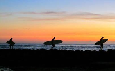 Hawaiian Surfers by olgakofti