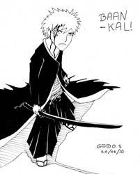 Ichigo in his Bankai Form by Cedos