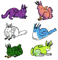 colorful wolpertingers by theRast