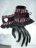Striped Wrist Cuffs by emiko42