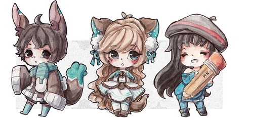 chibis by Marmaladecookie