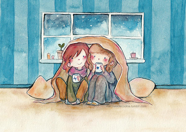 cuddles and tea by Marmaladecookie