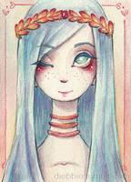 Blue hair by Marmaladecookie