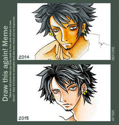 Meme: Before and After // TRAFALGAR LAW by RavenTears