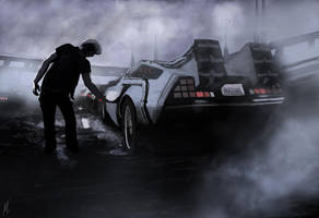 Ready Player One Delorean Time Machine by Pacman1170