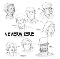 Neverwhere character sketches by silentsketcher