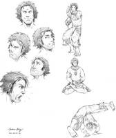 Don: facial study and poses by silentsketcher