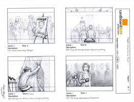 Heinz storyboard, pg. 1 by silentsketcher