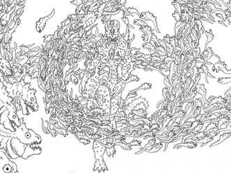 Shin Godzilla Humanoid Spawning by Beastrider9