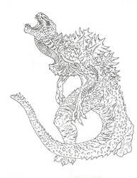 Shin Godzilla Humanoid Evolution by Beastrider9