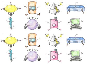 Pastel Bots! by LernoVictoria