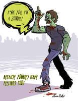 Zombies have feelings too by Spidersaiyan