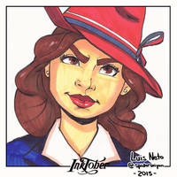 Inktober Day-1 - Agent Carter by Spidersaiyan