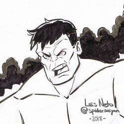 Day 2 - Inktober 2018 - Hulk by Spidersaiyan