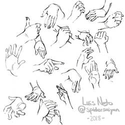 Day 9 - Inktober 2018 - Hand Sketches by Spidersaiyan