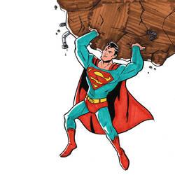 Day 11 - Inktober 2018 - Superman by Spidersaiyan
