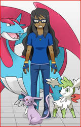 Me with some awesome Pokemon! by Espeon804